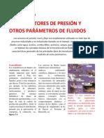 TRANSDUCTORES DE PRESIÓN Y OTROS PARAMETROS DE FLUIDOS
