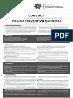 Convocatoria Policía Preventivo Municipal