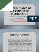 GENERALIDADES DE LOS CANALES DE DISTRIBUCIÓN