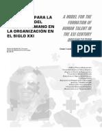 Un Modelo Para La Formación Del Talento Humano en La Organización en El Siglo Xxi