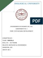 Sustainable Development 2k17me82