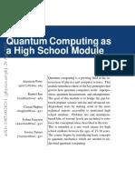 Computación Cuántica en enseñanza media