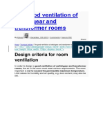 Design Criteria for Room Ventilation