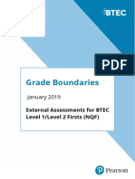 1901 BTEC Firsts Grade Boundaries