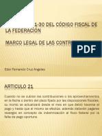 Artículos 21-30 Del Código Fiscal de La Federación