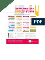 Calendario 2018 2019.Calendario Escolar Mexico 2018 2019 Pdf