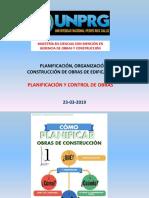 Clase PLANIFICACIÓN Y CONTROL DE OBRAS