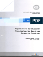 Informe Final 1214-15 Departamento de Educacion Municipalidad de Coquimbo Sobre Auditoria a La Subvencion Escolar Preferencial - Diciembre 2015 (1)