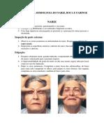 Roteiro Para Semiologia Do Nariz e Boca[3821]