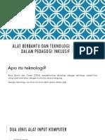 Alat Berbantu Dan Teknologi Dalam Pedagogi Inklusif