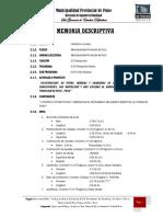 Expediente Técnico - Memoria Descriptiva - Jr Manto