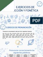 Ejercicios de Dicción y Fonética
