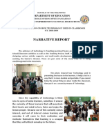 Narrative Report on Technology