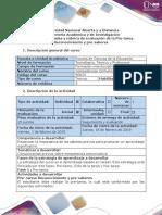 Guía de actividades y Rúbrica de evaluación - Pre-tarea - Reconocimiento y pre-saberes