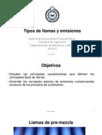 4- Tipos de Llamas y Emisiones