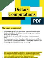 Dietary Computations