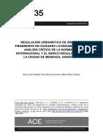 Regulación Urbanística de Áreas de Piedemonte en Ciudades Latinoamericanas