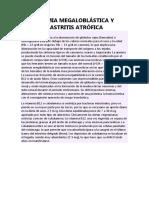 Anemia Megaloblástica y Gastritis Atrófica