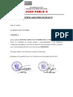 Certificado de salud