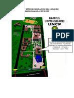 Croquis y Datos de Ubicación Del Lugar de Ejecución Del Proyecto