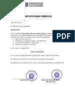 Certificado de ginecología