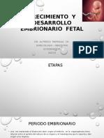 Crecimiento y Desarrollo Del Embrion y Feto