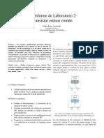 Informe de Laboratorio 2 - Felipe Rojas