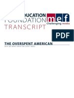 The Overspent American Transcript