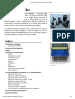 Batería Eléctrica - Wikipedia, La Enciclopedia Libre