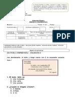 Evaluación diagnóstica 2 básico