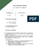 Formulas de Válvulas