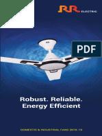 RR Electric Fan Catalogue Dec 2018