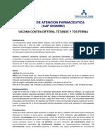 vacunacion contra difteria, tetanos y tos ferina