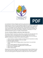 reading intervention program fountas pinell