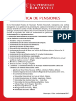 Justificacion de La Alza de Pensiones UR