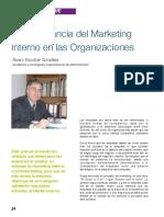 Importancia Del Marketing Interno en Las Organizaciones