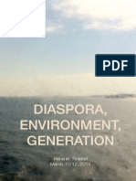 DiasporaEnvironmentGeneration Finland-CFP NSU W 2019