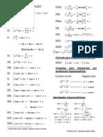 Formulas de Integrales