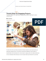 Twenty Ideas for Engaging Projects _ Edutopia