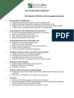Ten Point Safety Checklist