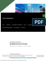 Super Elevation Civil Engineering