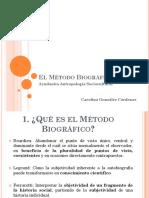 El Metodo Biografico - Ayudantia Antropologia Sociocultural