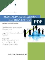 Manual de Empresa Exitosa