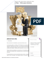 Bodas de Oro o Plata - Oficio Para Ministros - Asambleas de Dios - México