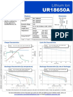 Samsung UR18650A Data Sheet