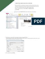 Cara Mencetak Tabel Pada Ms Access 2010