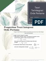 (K.2) Teori Terintegrasi Orde Pertama