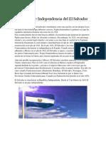 El Proceso de Independencia Del El Salvador
