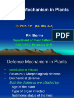 Defence mechanism in plants