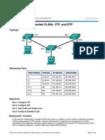 2.1.4.5 Lab - Configure Extended VLANs, VTP, And DTP